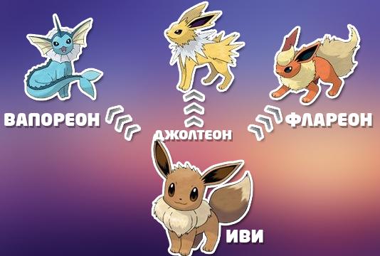 картинки иви эволюция