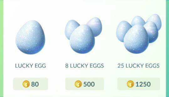 Lucky Egg в магазине Pokemon GO