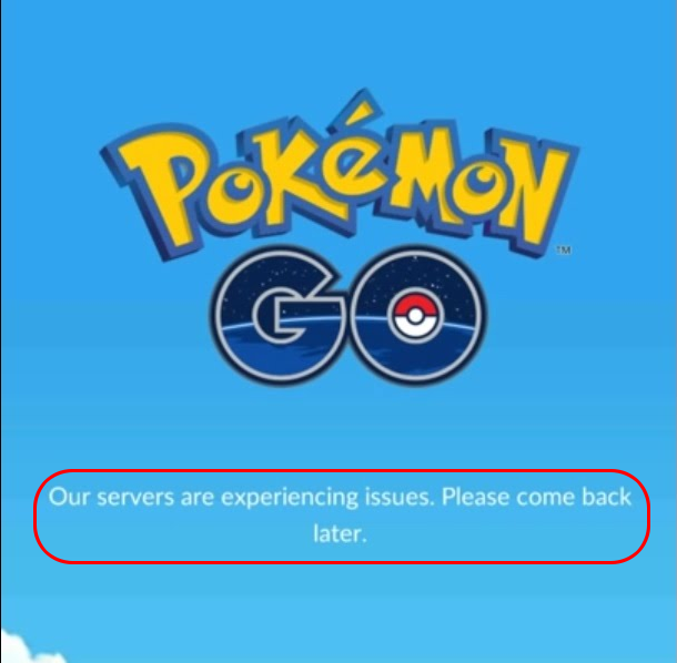 "Ошибка ""Our servers experiencing issues"" в Pokemon GO"