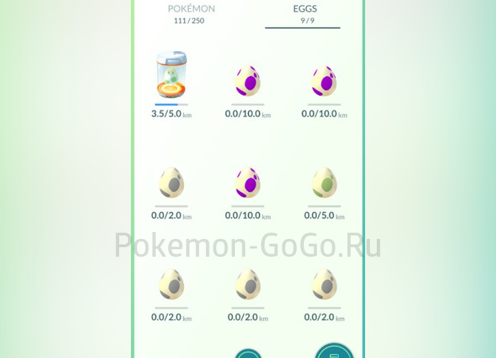 Разноцветные яйца в Покемон Го