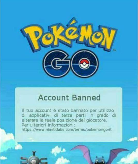 Как выглядит заблокированный аккаунт в Покемон ГО