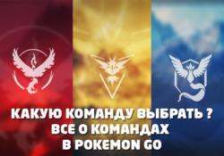 Pokemon GO Команды